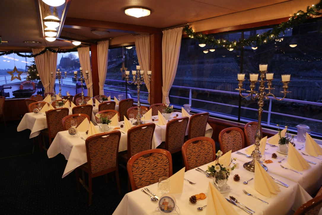 Bonner Schifffahrt, Eventschiff, Dekoration, Eventlocation